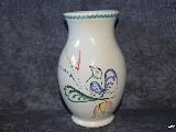 Ceramika bolimowska biała - Wazonik 075 l, wys. 16 cm,ręcznie toczony i malowany