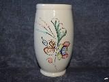 Ceramika bolimowska biała - wazon wys. 18 cm, ręcznie toczony i malowany (1)