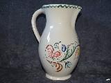 Ceramika bolimowska  biała - dzbanek poj. 1 l ręcznie toczony i malowany