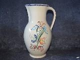 Ceramika bolimowska biała - dzbanek 3 l, ręcznie toczony i malowany